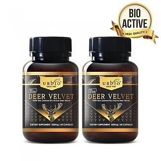 [유비바이오] 바이오액티브 녹용(발효녹용) 500mg 60캡슐 2개