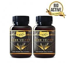 [유비바이오] 바이오액티브 녹용(발효녹용) 500mg 120캡슐 2개
