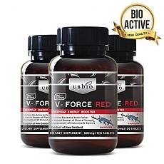 [유비바이오]V-Force 브이포스 레드(녹용,녹혈) 500mg 120tab 3개