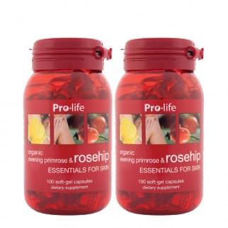 [프로라이프] 유기농 달맞이꽃종자유 함유 로즈힙200캡슐 2개