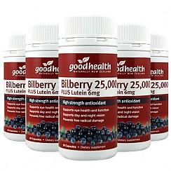 [굿헬스] 빌베리(눈건강) 25000+ 루테인 60캡슐 6개 (눈건강)