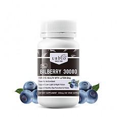 [유비바이오] 빌베리 30000mg + 루테인 8mg 60베지캡슐(눈건강) 1개
