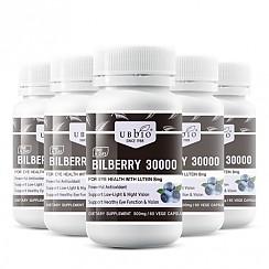 [유비바이오] 빌베리 30000mg + 루테인 8mg 60베지캡슐 6개