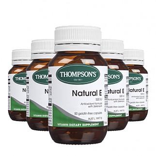 [톰슨] 비타민 네츄럴 E 500IU 50캡슐 6개