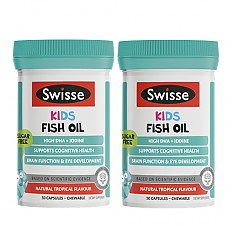 [스위스] 츄어블 키즈 피쉬오일/오메가3 50캡슐 2개