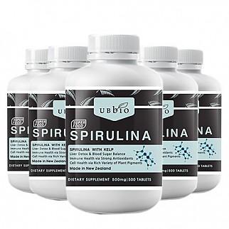 [유비바이오] 스피루리나 (피부건강/항산화/면역력증진) 500tab  6개