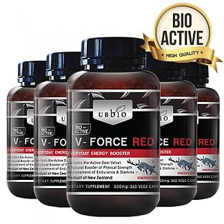 업그레이드 기념 특가// [유비바이오]V-Force 브이포스 레드(녹용,녹혈) 500mg 360tab 6개