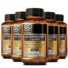 [고헬시] 마그네슘 (ONE-A-DAY) 500mg 60캡슐 6개