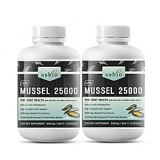 [유비바이오] 생 초록입홍합25000mg 360캡슐(고함량) 2개